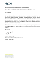 EPOS GAYRĠMENKUL DANIġMANLIK VE DEĞERLEME A.ġ. 2013
