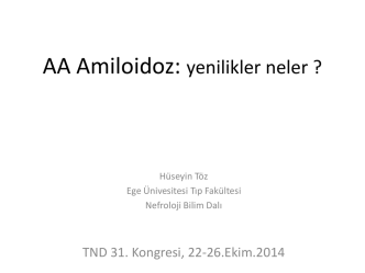 AA amiloidoz