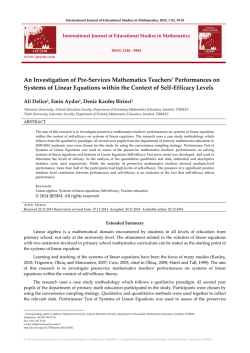 Abstract - International Journal of Educational Studies in Mathematics