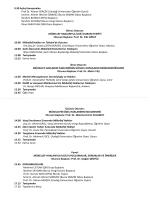 9.30 Açılış Konuşmaları Prof.Dr. Adnan GERÇEK (Uludağ