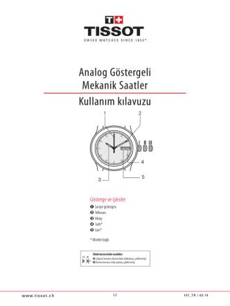 Analog Göstergeli Mekanik Saatler Kullanım kılavuzu