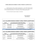 11/13 yaş minik erkekler serbest güreş türkiye şampiyonası 14/15