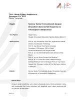 Seminer Serileri: Termodinamik Akışkan Dinamikleri Alanında Kilit