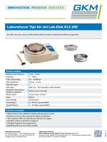 Laboratuvar Tipi Air-Jet Lab-Elek KLS 200