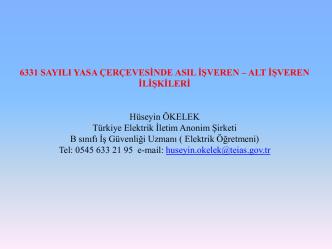 alt işveren ilişkileri - Çalışma ve Sosyal Güvenlik Bakanlığı