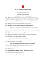 PSL 209 - 01 DENEYSEL PSİKOLOJİ DERSİ 2013