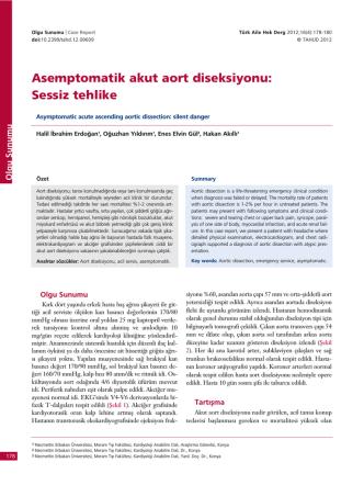Asemptomatik akut aort diseksiyonu