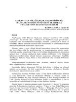 azerbaycan millî ilmler akademisi doğu bilimleri enstitüsünün