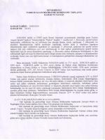Nevşehir İli Parkur Alanı Belirleme Komisyonu Karar Tutanağı