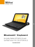 Bluetooth® Keyboard for Volks-Tablet (VT10416-2) and