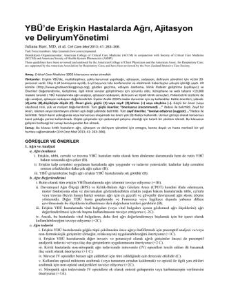Ağrı Klinik Rehberi Çeviri Hakan Erbay