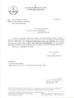 Müdürlüğümüzüz konu ile ilgili 13/06/2014 tarih ve 2437182 sayılı