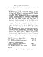 BÜTÇE MALİ KOMİSYON RAPORU Belediye Meclisinin 11.11.2014