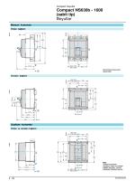 Compact NS630b - 1600 (sabit tip) Boyutlar