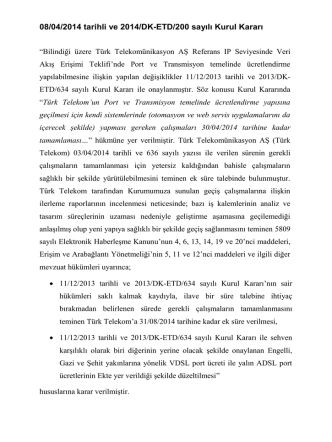 08/04/2014 tarihli ve 2014/DK-ETD/200 sayılı Kurul