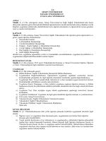Sinop Üniversitesi Sağlık Yüksekokulu Uygulama Yönergesi