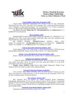 2014 Ekim Ayı Haber Bülteni Özeti – TÜİK Manisa Bölge Müdürlüğü