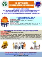 PowerPoint Sunusu - Çukurova Üniversitesi Fen Bilimleri Enstitüsü