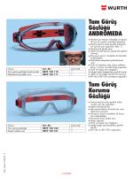 Tam Görüş Gözlüğü ANDROMEDA Tam Görüş Koruma Gözlüğü