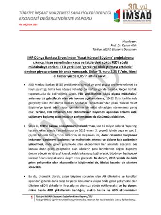 1 Türkiye İMSAD Ekonomi Değerlendirme Raporu/175