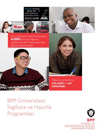 BPP Üniversitesi İngilizce ve Hazırlık Programları
