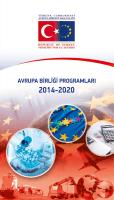 Avrupa Birliği Programları 2014-2020