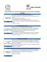Haziran 2014 Dönemi Genel Katılıma Açık Eğitim