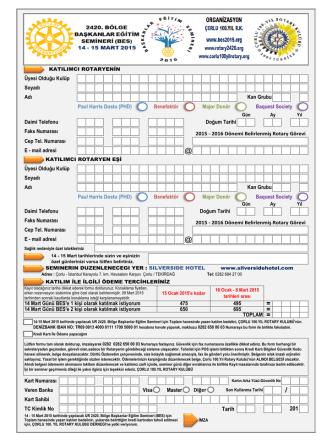 BES2015 Kayıt Formu - ur 2420.bölge 2015