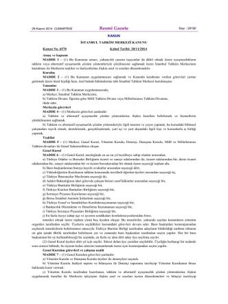 6570 Sayılı İstanbul Tahkim Merkezi Kanunu