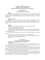 Samsun Sağlık Yüksekokulu Beslenme ve Diyetetik Bölümü Staj