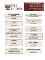 approved department representatıve candıdates for student councıl