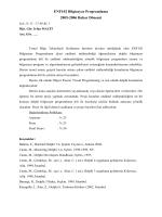 Programlama Kılavuzu - Endüstri Mühendisliği Bölümü