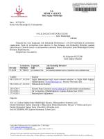 Niğde Halk Sağlığı Müdürlüğü 2014/6 Aile Hekimliği Ek Yerleştirmesi