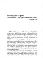 """Koçak, Cemil, """"Yeni Belgeler Işığında CHP-Devlet"""