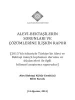 Alevi-Bektasilerin sorunlari ve cözümlerine iliskin rapor