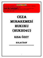 CEZA MUHAKEMESİ HUKUKU (HUK204U)