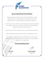 Bilgi güvenliği yönetim sistemimizin ISO 27001 standardının istediği