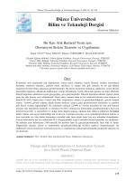 Bu PDF dosyasını indir - Düzce Üniversitesi Bilim ve Teknoloji Dergisi
