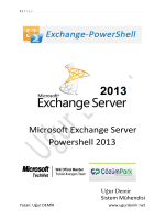 Exchange 2013 Powershell E-Book - Technet Gallery