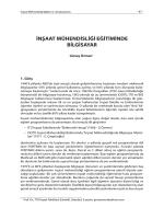İnşaat Mühendisliği Eğitiminde Bilgisayar