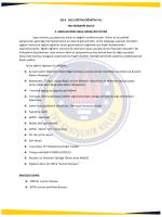 2014 - 2015 EĞİTİM-ÖĞRETİM YILI TED ESKİŞEHİR KOLEJİ 2