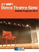 Dünya Tiyatro Günü - Kadıköy Belediyesi