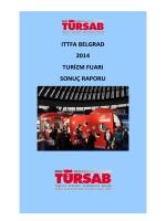 ıttfa belgrad 2014 turizm fuarı sonuç raporu