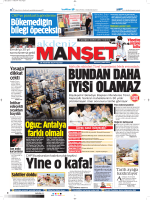 Oğuz: Antalya farklı olmalı