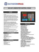 dkg-207 jeneratör kontrol cihazı