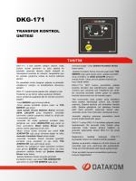 DKG 171 Tanıtım Dökümanı - İndir