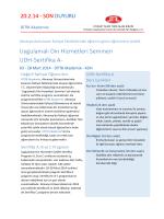 Uygulamalı Din Hizmetleri Semineri UDH-Sertifika A-