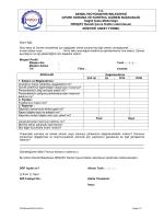 Müşteri Anket Formu - Denizli Çevre Kalite Laboratuvarı