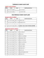 uzmanlık sınav saatleri okutmanlık sınav saatleri