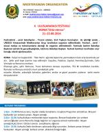 "X ULUSLARARASI FESTIVALİ ROMA""Città eterna"""
